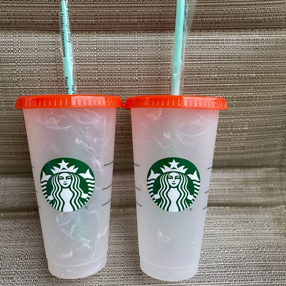 starbucks 2 changing color tumbler new 2021 summer